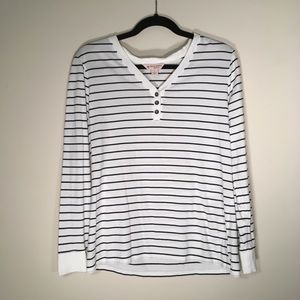 🐖🌹Brooks brother red fleece striped henley